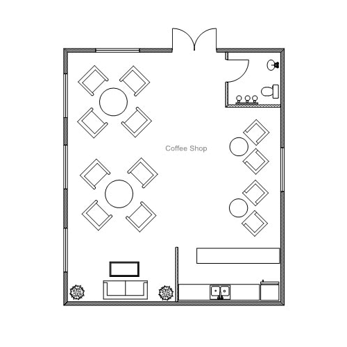 Sample Kitchen Floor Plans: Ready-to-use Sample Floor Plan Drawings & Templates • Easy