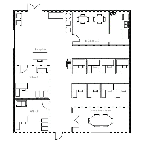 Ready To Use Sample Floor Plan Drawings Amp Templates Easy