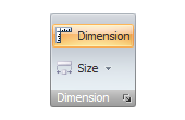 Independent dimension line button