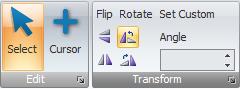 Rotate/Flip buttons