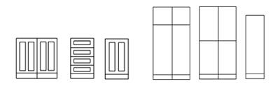 Symbols example - cabinets