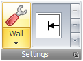 Wall Editor button